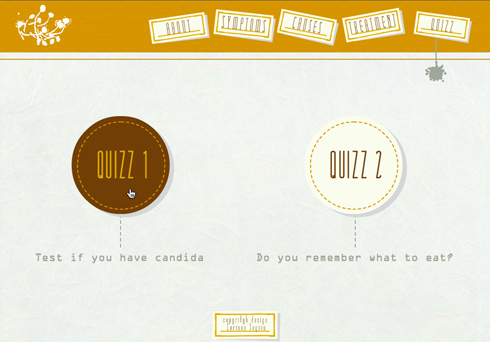 All About Candida/Candidiasis Website Quizz 1